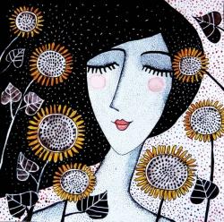 Margarita and the sunflowers
