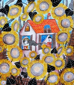 The house in the sunflowers