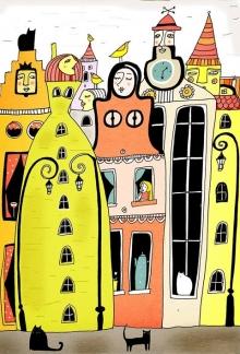 Следобедната раздумка на гданските къщи
