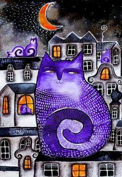 The city of the purple cats