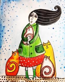 Дамата с котките