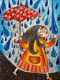 Топлият пролетен дъжд